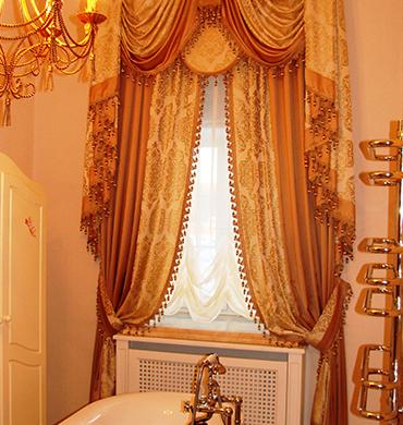 Римские шторы в ванную
