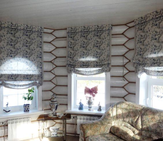 Загородная романтика со шторами  из тканей Veli