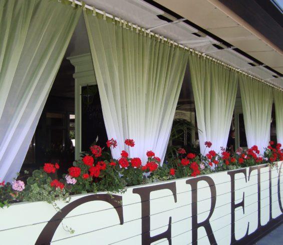 Текстильное декорирование ресторанов