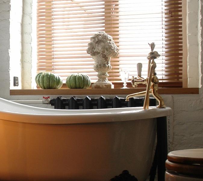 Горизонтальные жалюзи для ванной из бамбука
