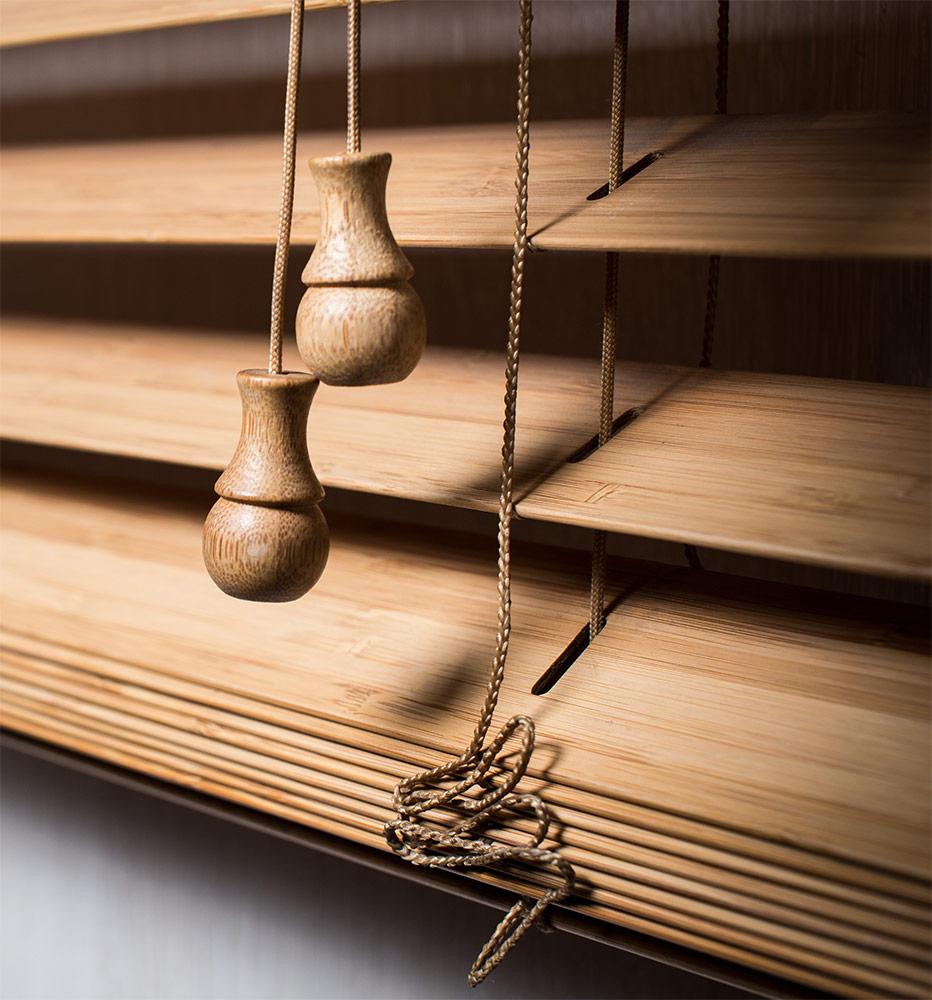Горизонтальные жалюзи из бамбука