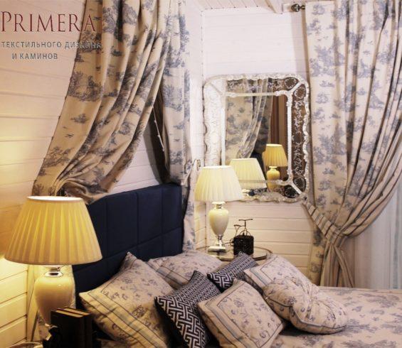 Эксклюзивные шторы в спальню  для  Валентины  Талызиной